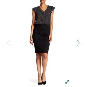 Philosophy Hidden Zip Midi Skirt